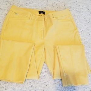 WHBM Canary Yellow Slim Ankle Pants 8